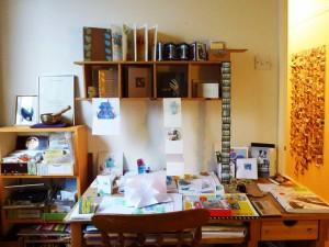 DeskShelvesBooks