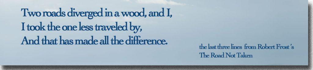 3 Lines fr Robert Frost poem